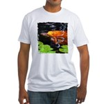 Red Koi Rising Fitted T-Shirt