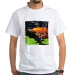 Red Koi Rising White T-Shirt