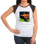 Red Koi Rising Women's Cap Sleeve T-Shirt