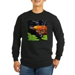 Red Koi Rising Long Sleeve Dark T-Shirt