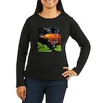 Red Koi Rising Women's Long Sleeve Dark T-Shirt
