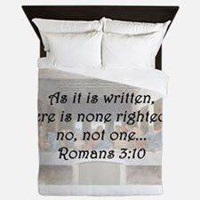 Romans 3:10 Queen Duvet