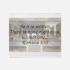 Romans 3:10 Throw Blanket