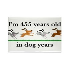 65 dog years birthday 2 Rectangle Magnet (10 pack)