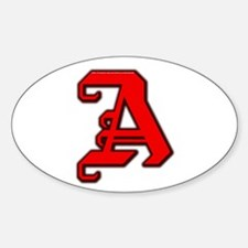 Scarlet Letter - Oval Decal