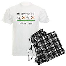 70 birthday dog years 1 Pajamas