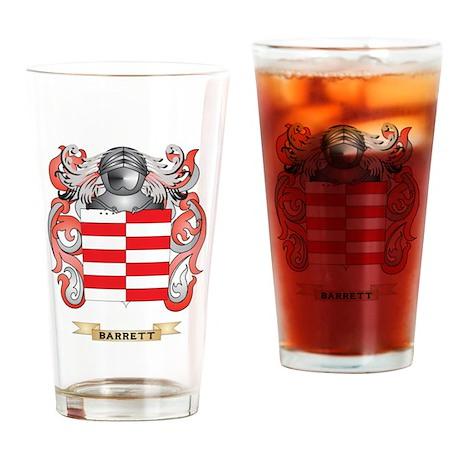 Barrett Coat of Arms Drinking Glass