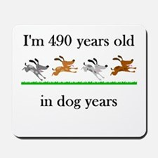 70 birthday dog years 1 Mousepad