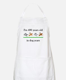 70 birthday dog years 1 Apron