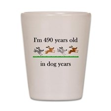70 birthday dog years 1 Shot Glass