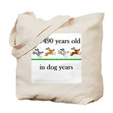 70 birthday dog years 1 Tote Bag
