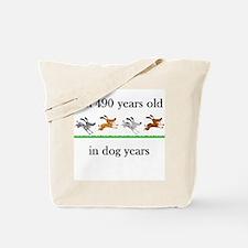 70 birthday dog years 1 Tote Bag