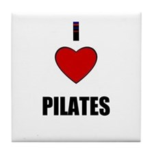 I LOVE PILATES Tile Coaster
