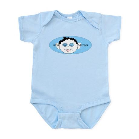 Blue In One Ear Infant Bodysuit