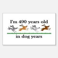 70 dog years birthday 2 Decal