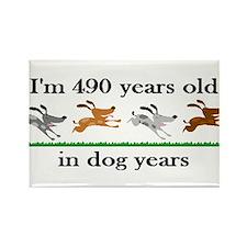 70 dog years birthday 2 Rectangle Magnet