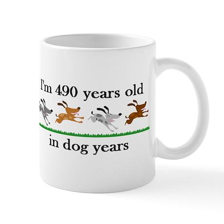 70 dog years birthday 2 Mug
