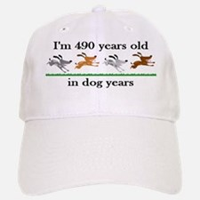 70 dog years birthday 2 Baseball Baseball Baseball Cap