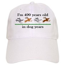70 dog years birthday 2 Baseball Baseball Cap