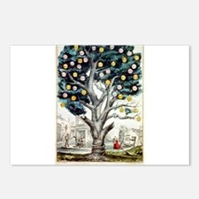 The tree of intemperance - 1849 Postcards (Package