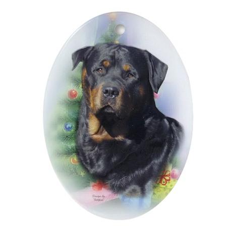 Rottweiler Keepsake/Oval Ornament