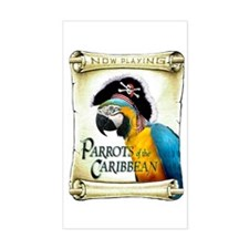 PARROTS of the CARIBBEAN Rectangle Decal