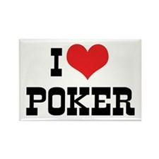 I Love Poker 3 Rectangle Magnet (10 pack)
