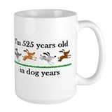 75 dog years Large Mugs (15 oz)