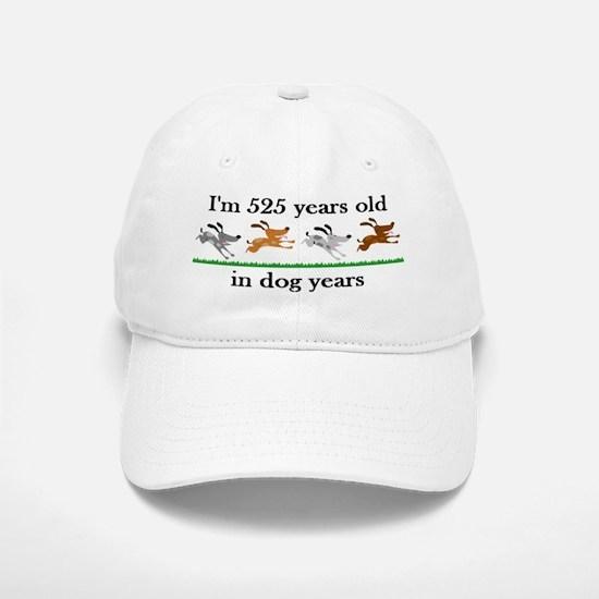 75 dog years birthday 2 Baseball Baseball Baseball Cap