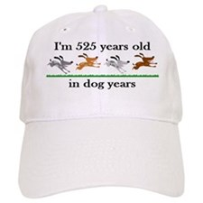 75 dog years birthday 2 Baseball Baseball Cap