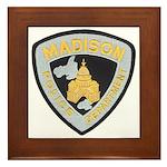 Madison Police Framed Tile