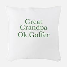 Great Grandpa OK Golfer Woven Throw Pillow