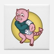 Devil Pig Tile Coaster