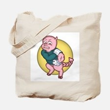 Devil Pig Tote Bag