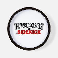 """The World's Greatest Sidekick"" Wall Clock"