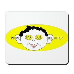 Yellow In One Ear Mousepad