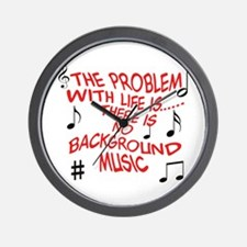 Background Music Wall Clock