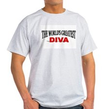 """The World's Greatest Diva"" Ash Grey T-Shirt"