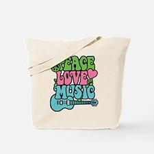 Peace-Love-Music Tote Bag