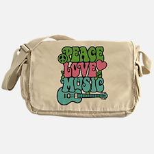 Peace-Love-Music Messenger Bag