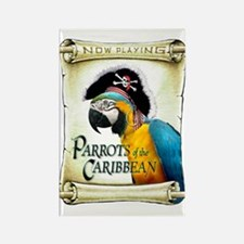 PARROTS of the CARIBBEAN Rectangle Magnet