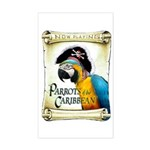 PARROTS of the CARIBBEAN Rectangle Sticker