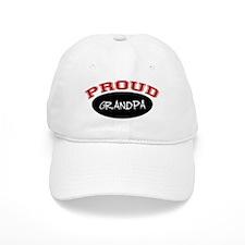 Proud Grandpa (red & black) Baseball Cap