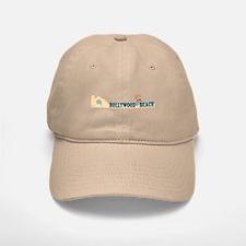 Hollywood Beach - Beach Design. Baseball Baseball Cap