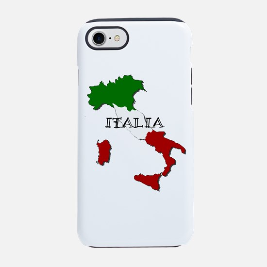 Italy Flag Map iPhone 7 Tough Case