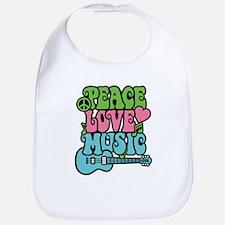 Peace-Love-Music Bib