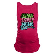 Peace-Love-Music Maternity Tank Top