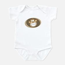 Cheese Grin Monkey Infant Bodysuit