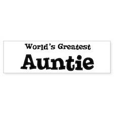 World's Greatest: Auntie Bumper Bumper Sticker