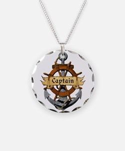 Captain and Anchor Necklace